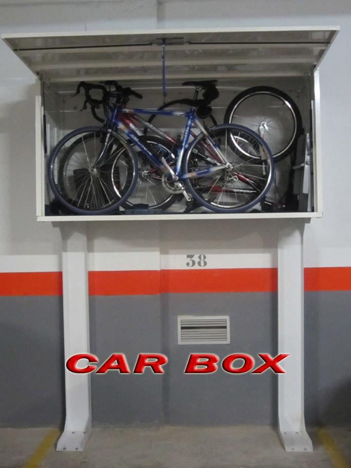 Car box armario trastero para garaje for Armario exterior para guardar bicicletas